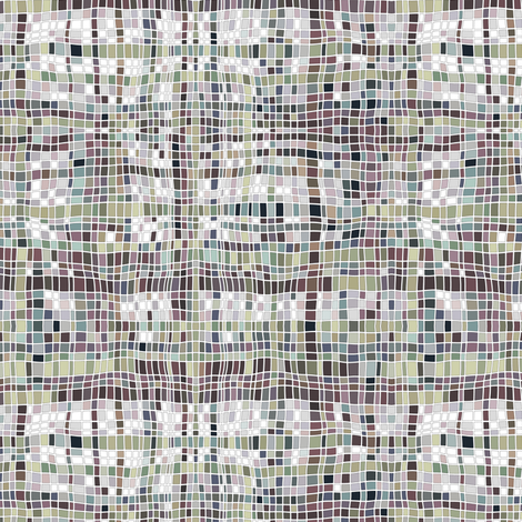 weave mosaic muted fabric by scrummy on Spoonflower - custom fabric