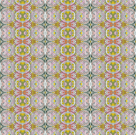 Granny's Old Fashioned Flower Print fabric by edsel2084 on Spoonflower - custom fabric