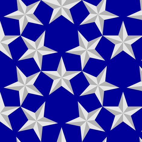 U53 V1 bevelled stars fabric by sef on Spoonflower - custom fabric