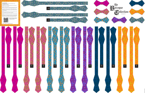 The Baroque Collection: 7 DIY Bow-Ties fabric by lavaguy on Spoonflower - custom fabric