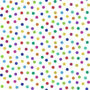 tiny rainbow confetti dots