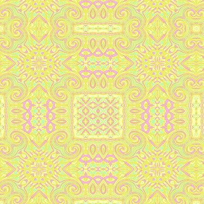 Spring pastel tablecloth