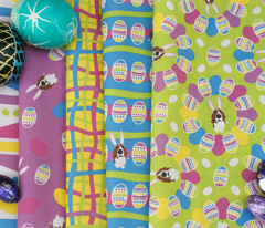 Easter Basset & Eggs Circles