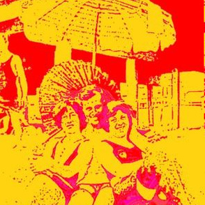 Coney Island, N.Y., Summer Red on Mustard