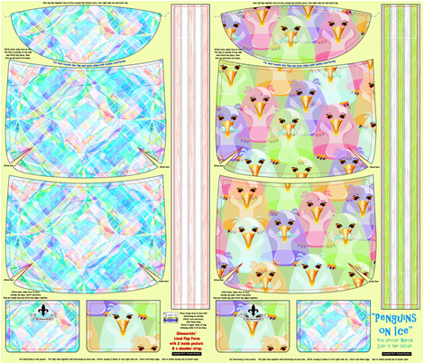 Penguins_on_Ice_Purse fabric by glimmericks on Spoonflower - custom fabric