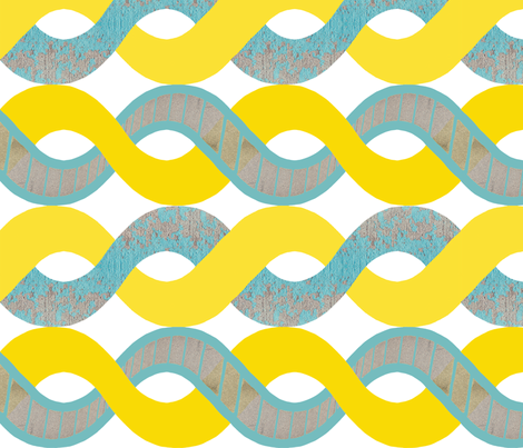 urban sightings: spirals fabric by bubbledog on Spoonflower - custom fabric