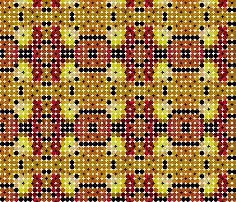 ball_circle_retro_tiles_with_black_ones fabric by vinkeli on Spoonflower - custom fabric