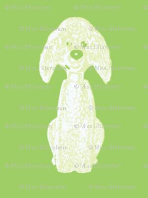 Oscar Dog green small half-drop