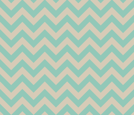 zigzag turquoise fabric by jenr8 on Spoonflower - custom fabric
