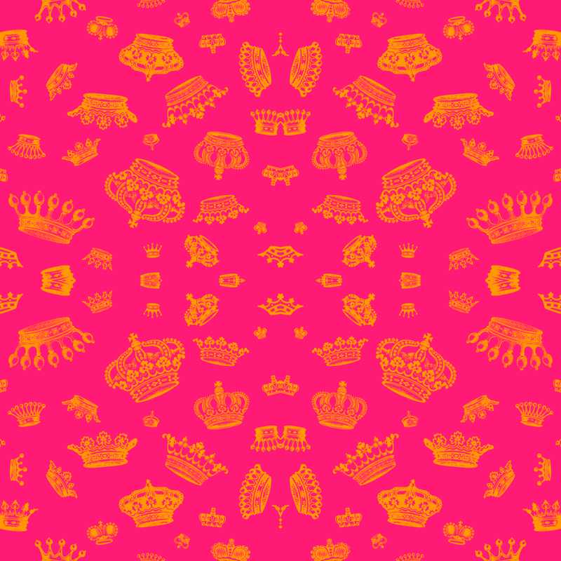 Royal Crowns Gold On Hot Pink Wallpaper Lavaguy Spoonflower