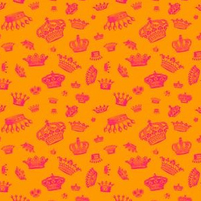 Royal Crowns - Hot Pink on Gold