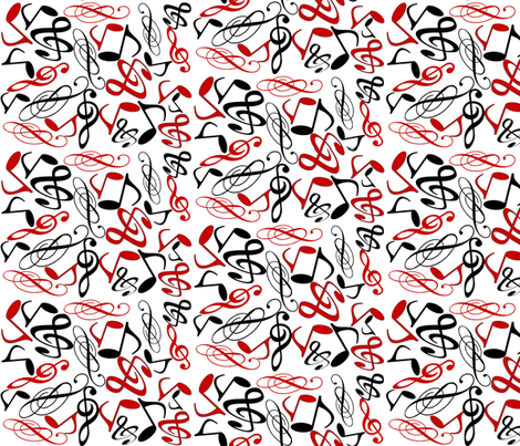 MUSICAL NOTES MELODY fabric by bluevelvet on Spoonflower - custom fabric