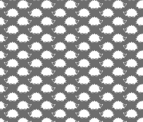 Hedgehog - Gray fabric by laurendahl on Spoonflower - custom fabric