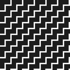 Bias Zig Zag - White on Black