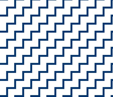 Bias Zig Zag - Navy on White fabric by laurendahl on Spoonflower - custom fabric