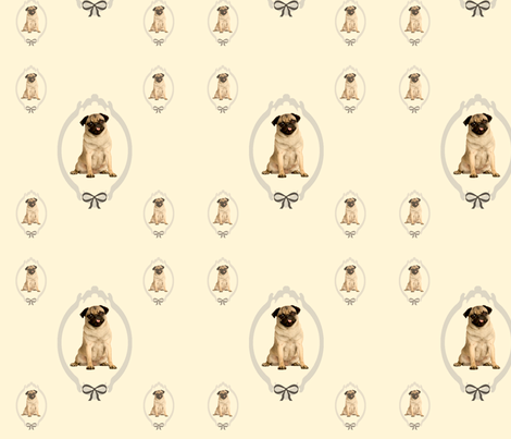 pugs fabric by little_seedling on Spoonflower - custom fabric
