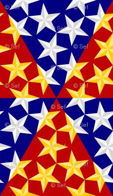 U53 V1 bevelled stars on triangles