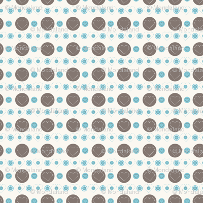dotty hearts (brown)