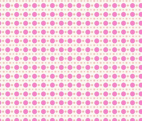 dotty hearts (pink) fabric by mondaland on Spoonflower - custom fabric