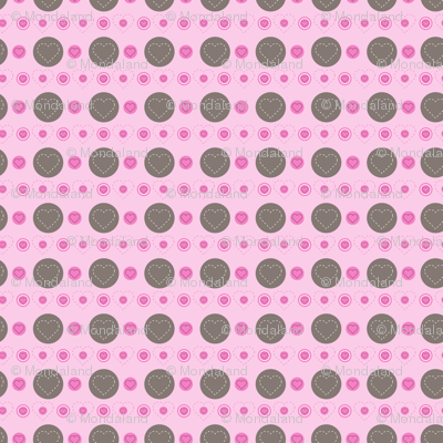 dotty hearts (bown/pink)