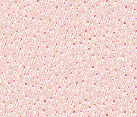 feather (peach) fabric by mondaland on Spoonflower - custom fabric