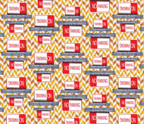 Caution_No_Parking fabric by betsypreston on Spoonflower - custom fabric