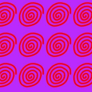 Red spiral on purple