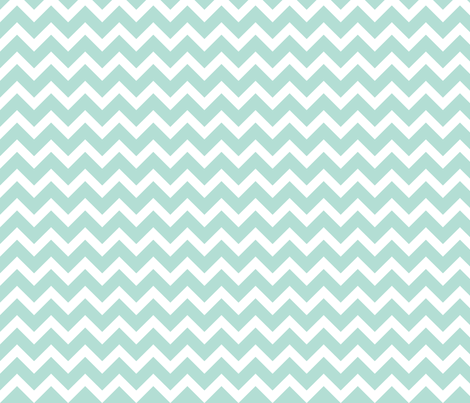 Mint Chevron fabric by sweetzoeshop on Spoonflower - custom fabric