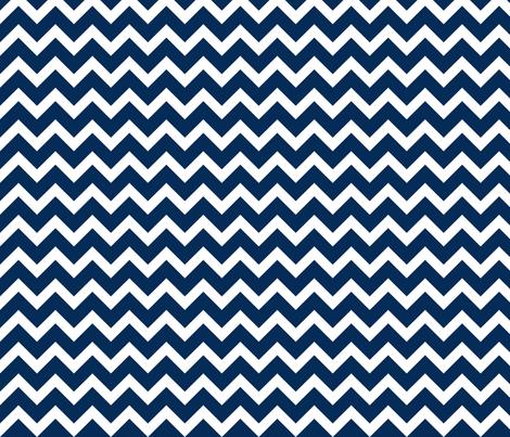 Navy Chevron fabric by sweetzoeshop on Spoonflower - custom fabric