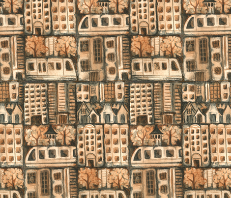City Building, Brick by Brick fabric by ceanirminger on Spoonflower - custom fabric