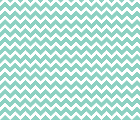Aqua Chevron fabric by sweetzoeshop on Spoonflower - custom fabric