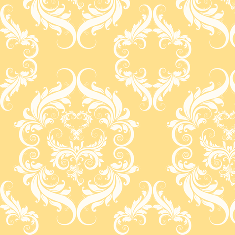 Soft Golden Yellow Damask fabric by cksstudio80 on Spoonflower - custom fabric