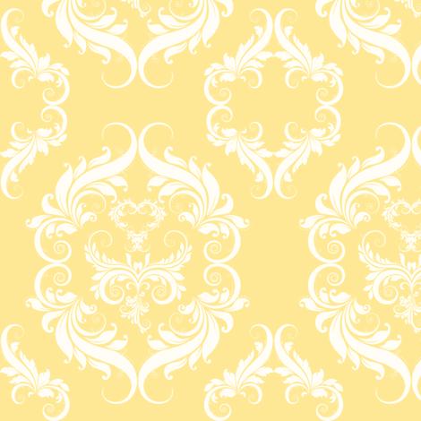 Mellow Yellow Damask fabric by cksstudio80 on Spoonflower - custom fabric