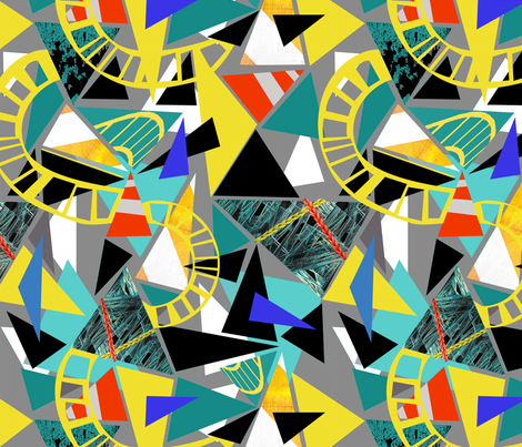 Traffic and Triangles fabric by gsonge on Spoonflower - custom fabric