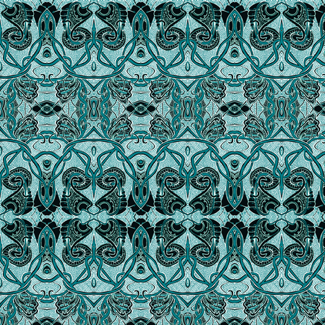 Egyptian Revival at Midnight fabric by edsel2084 on Spoonflower - custom fabric