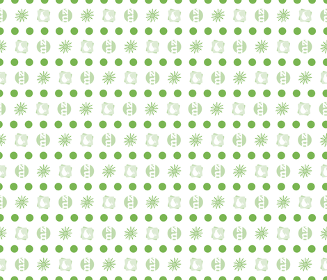 KIWI•FRUIT: spots n' stripes co-ordinate fabric by plumbilly on Spoonflower - custom fabric