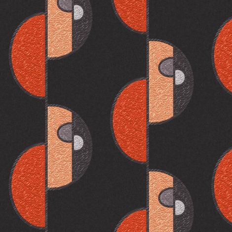 Half circles orange on brown SMALL fabric by su_g on Spoonflower - custom fabric