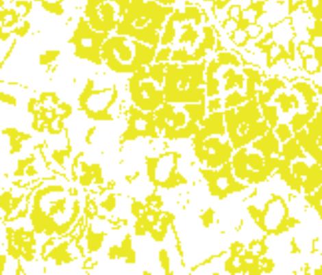 Persian-white mustard xxl fabric by miss_blümchen on Spoonflower - custom fabric