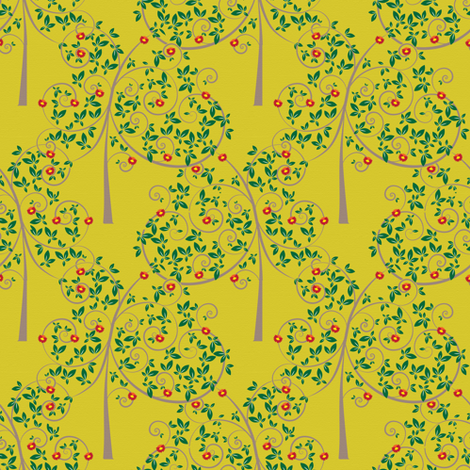 Trees fabric by sary on Spoonflower - custom fabric