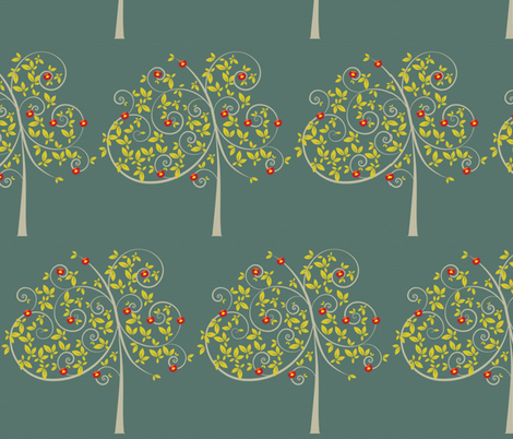 trees in the evening fabric by sary on Spoonflower - custom fabric