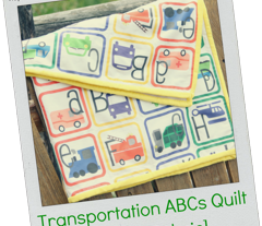 Transportation ABC Quilt