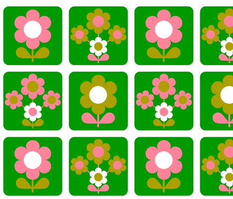 green_flower_block fabric by aliceapple on Spoonflower - custom fabric