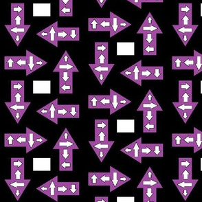 Many Purple Arrows