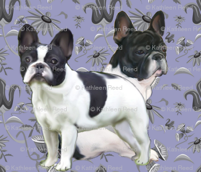 Frenchies_in_the_garden
