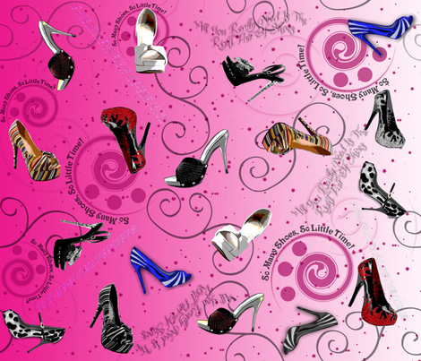 So Many Shoes, So Little Time! fabric by dancingwithfabric on Spoonflower - custom fabric