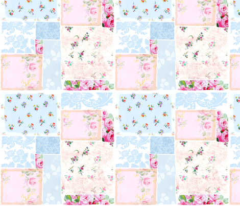 Patchwork Roses fabric by lilyoake on Spoonflower - custom fabric