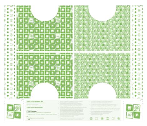 Kiwi•FRUIT Shopping Bag fabric by plumbilly on Spoonflower - custom fabric