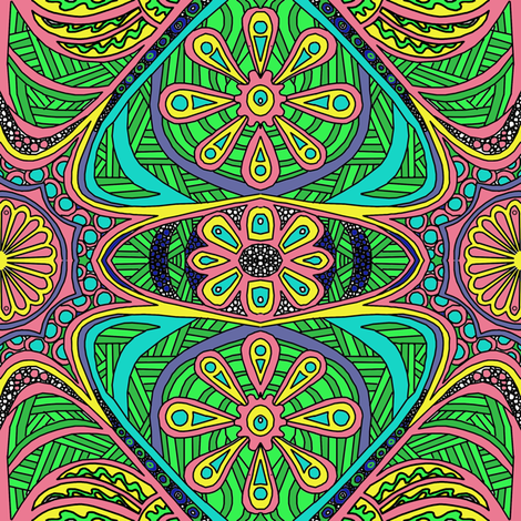 Just Doodling Multi fabric by thats_artrageous on Spoonflower - custom fabric
