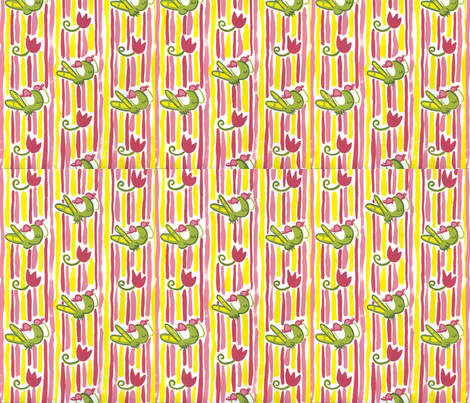 Happy Bugs Collection. Vertical  fabric by jamiesonhaverkampf on Spoonflower - custom fabric