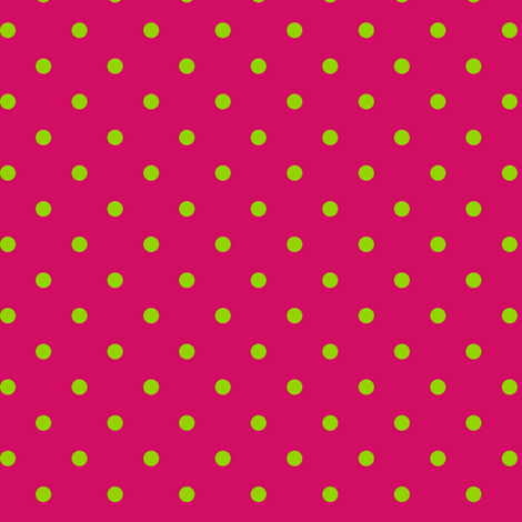 Green Polka Dots on Pink fabric by stitchwerxdesigns on Spoonflower - custom fabric